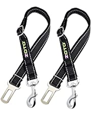 ZOTO Dog Seat Belt,2 Pack 56-80cm Adjustable Dog Cat Car Safety Seatbelt Harness Strap Lead for Fit All Car Seatbelt Buckle,Dog Car Belt Travel Accessories
