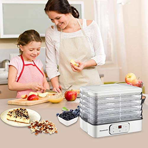 Food Dehydrator, Electric Digital Food Dehydrator Machine for Jerky, Fruit, Vegetables & Nuts, Vegetable Dryer with Timer and Temperature Control, Homeleader Food Dehydrator with Five Trays, LCD Display Screen, K33-022 by Homeleader (Image #1)