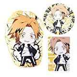 WerNerk My Hero Academia Bag Gift Set - 1 MHA Plush Pillow, 2 Sheet Stickers, 1 Button Pins for Anime MHA Fans