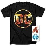 Popfunk Flash DC Comics Logo T Shirt & Exclusive Stickers (XX-Large)