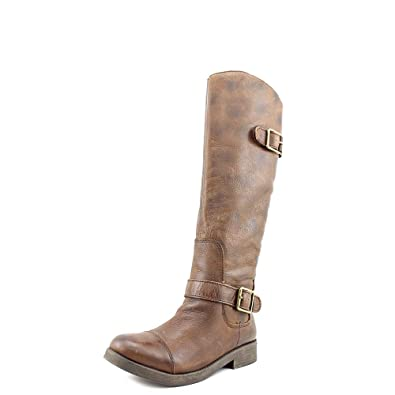 Lucky Brand Womens Fanni Leather Closed Toe Knee High Fashion Boots, Brown,  9.0