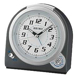 SEIKO Alarm Clock, Plastic, 13.5x 7.7x 13cm Charcoal