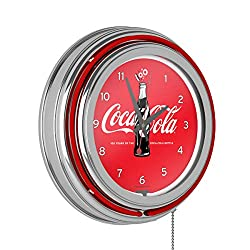 Trademark Global Coca-Cola Retro Neon Clock - 100th Anniversary of The Coca-Cola Bottle