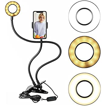 Amazon Com Neewer Clamp On Led Selfie Ring Light With