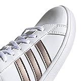 adidas Baby Grand Court Sneaker, White/Copper