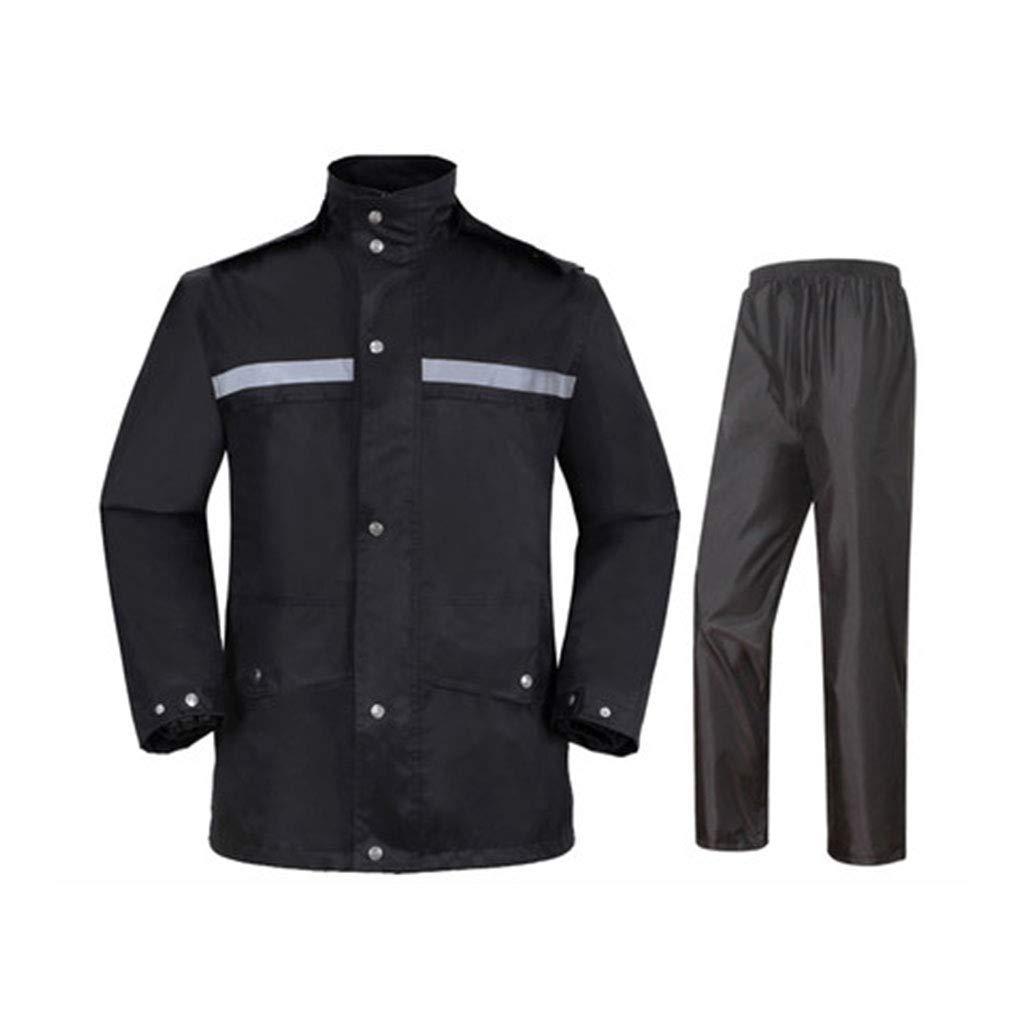 noir XXXXL Goquik VêteHommests Imperméables Pantalon imperméable imperméable à l'eau de Pluie Costume Adulte imperméable imperméable pour Les Hommes et Les Femmes Vestes Coupe-Pluie (Couleur   noir, Taille   L)