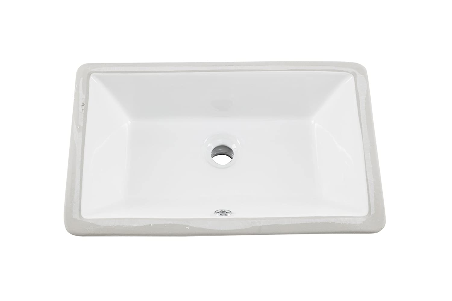 Bathroom sink chip repair - 1181cbw 18 X11 White Rectangular Porcelain Undermount Bathroom Sink Vanity Sinks Amazon Com