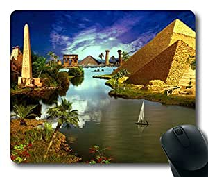 Building Ancient Egypt Easter Thanksgiving Personlized Masterpiece Limited Design Oblong Mouse Pad by Cases & Mousepads