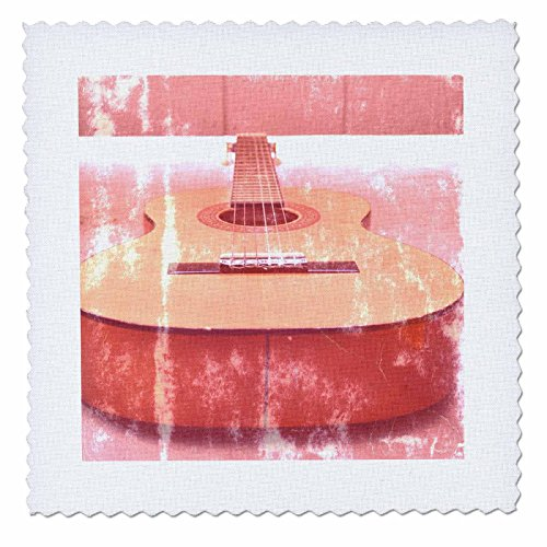 Guitar Quilt Top (3dRose qs_29243_10 Guitar Top View Music-Quilt Square, 25 by 25-Inch)