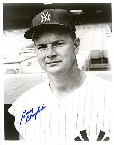 (Gary Blaylock Autographed/Original Signed 8x10 B&W Photo Showing Him w/the New York Yankees in 1959)