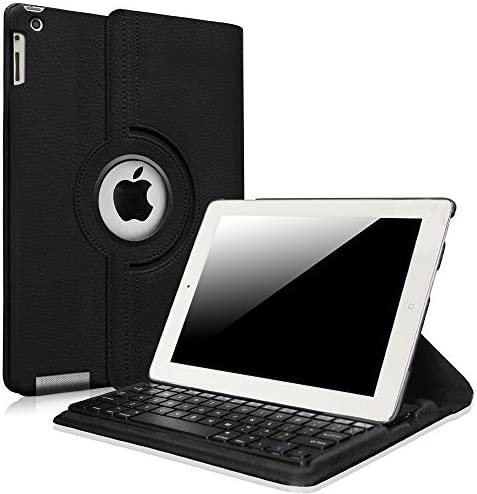 Fintie iPad 4/3/2 Keyboard Case - 360 Degree Rotating Stand Cover with Built-in Wireless Bluetooth Keyboard for iPad 4th Gen with Retina Display, iPad 3 & iPad 2, Black [並行輸入品]