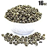 Tealyra - Imperial Jasmine Dragon Pearls - 16-Ounce - Green Tea Loose Leaf - Best Jasmine Tea - Organically Grown - 450 Gram