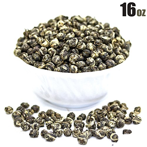 Tealyra - Imperial Jasmine Dragon Pearls - 16-Ounce - Green Tea Loose Leaf - Best Jasmine Tea - Organically Grown - 450 Gram