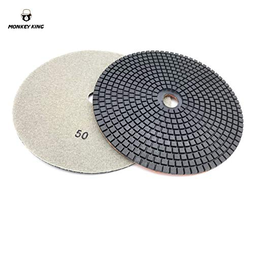 Lysee 7'' 180mm Wet/Dry Diamond Polishing Pad for Concrete Cement - (Grit: Grit 10, Number of Pcs: 2 Pcs) by Lysee