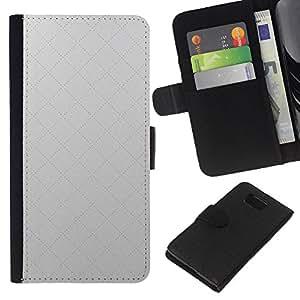 KLONGSHOP // Tirón de la caja Cartera de cuero con ranuras para tarjetas - Simple patrón de 17 - Samsung ALPHA G850 //