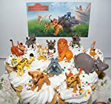 Disney The Lion Guard Deluxe Mini Cake Toppers Cupcake Decorations Set of 13 Figures with the 5 Lion Guard Figures, King Simba, Simon, Pumon and More!