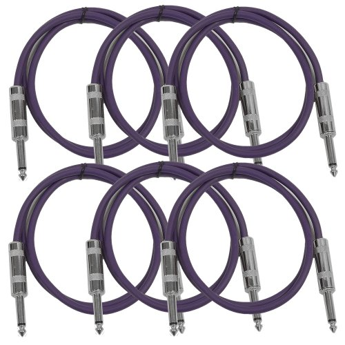 Seismic Audio - SASTSX-2 (6 Pack) - 2 Foot TS 1/4