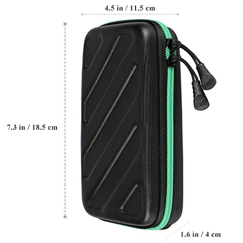 EEEKit Portable Travel Cable Organizer Electronics Accessories Cases Digital Bag for Hard Drives, Charging Cords, USB Charger Adapter, USB Flash Drives, Data Cable (7.3 in x 4.5 in x 1.6 in) by EEEKit (Image #5)'