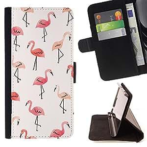 King Art - Premium-PU-Leder-Prima caja de la PU billetera de cuero con ranuras para tarjetas, efectivo Compartimiento desmontable y correa para la mu?eca FOR LG G3 LG-F400 D802 D855 D857 D858 - Swan Cute