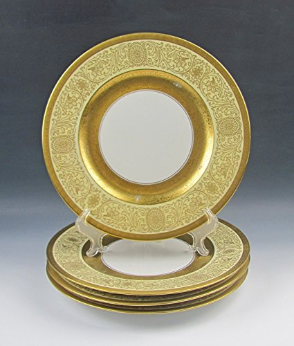 4 Royal Bavaria China GOLD ENCRUSTED Cabinet Plates By Hutschenreuther,Pickard