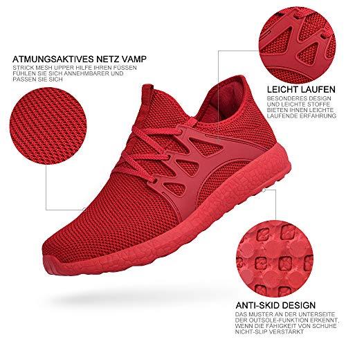 Rutschfeste Sneaker Sportschuhe Sommerschuhe Herren Zocavia Rot1 Laufschuhe Damen x8qRRXI