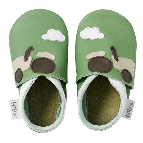 Bobux–BBG 4170–Zapato de bebé–Gigantes Tractor verde Talla:Talla XXL