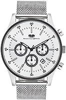 Rhodenwald & Söhne 10010158 Goodwill Montre homme Chronographe bracelet Milanais 5 ATM S/BLK
