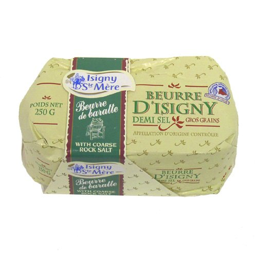 Isigny Butter with Coarse Rock Salt (8.8 ounce)