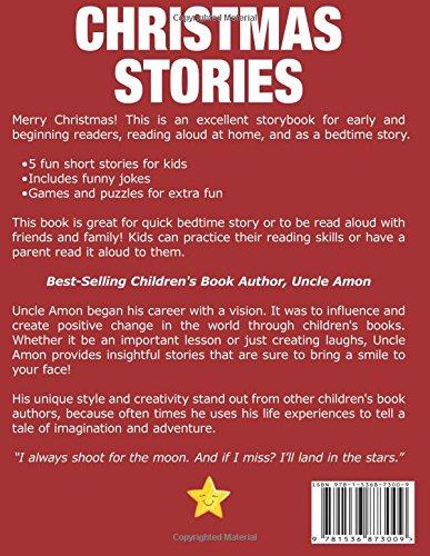 christmas stories christmas stories for kids christmas jokes and more christmas books for children volume 4 uncle amon 9781536873009 amazoncom