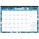 """Cabbrix Desk Pad Calendar 2019, Large Monthly Pages, 22""""x17"""", January - December, Ruled Blocks"""