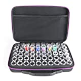 NAIZEA 60 Slot Diamond Painting Storage Accessories with Storage Bag, Plastic Cross Stitch Beads Organizer, Durable, High Capacity (Purple)