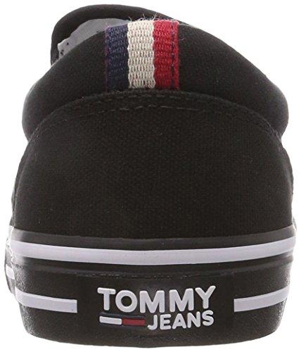 Hilfiger Denim Herren Tommy Jeans Textiel Slip Op Sneaker Schwarz (zwart 990)