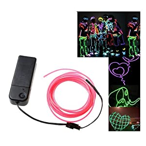 Amazon.com: TOOGOO(R) 3M White Flexible Neon Light EL Wire Rope ...