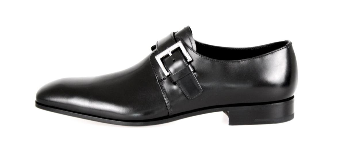 Prada Men's 2OA011 Black Leather Business Shoes EU 9.5 (43,5) / US 10.5 by Prada (Image #3)
