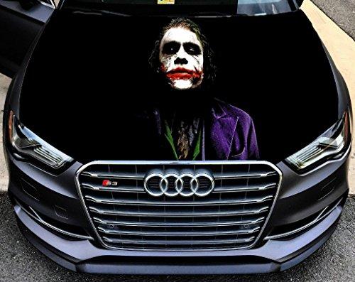 Full Color Sticker Joker Batman, Car Hood Vinyl Sticker, Car Vinyl Graphics Decal, Wrap, Car Hood Graphics, fit any Vehicles MH84