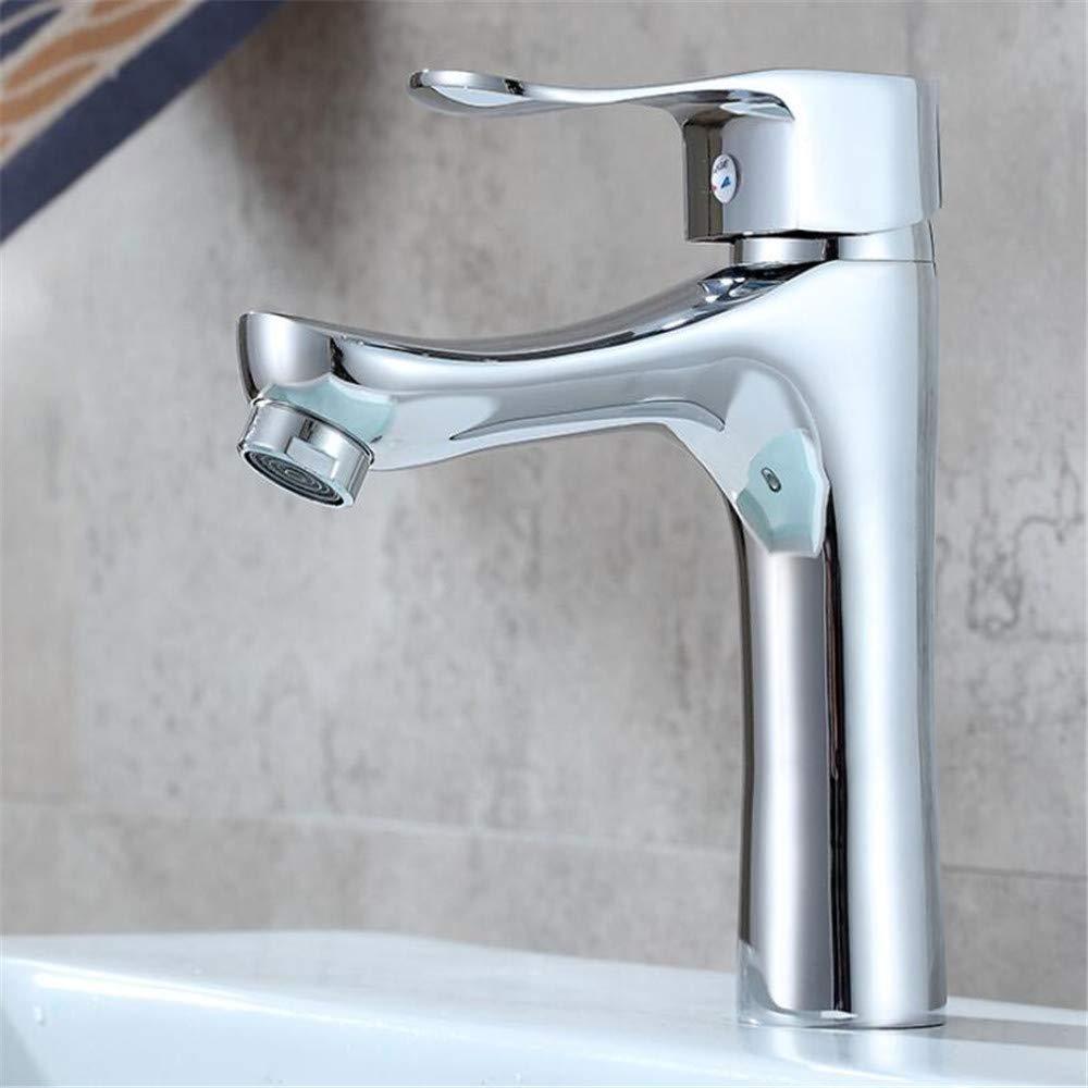 Waschtischarmaturenkupfer Becken Heißes Und Kaltes Wasserhahn Einhand-Einloch-Bad Waschbecken Waschbecken Wasserhahn