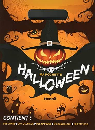 Ma pochette Halloween : Contient : des livres, du coloriage, des masques, du maquillage, des -
