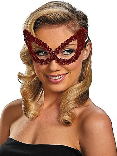 Disguise Costumes Sequin Eye Mask, Bright Red
