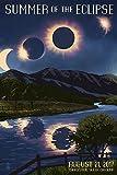 Charleston, South Carolina - Solar Eclipse 2017 - Summer of the Eclipse (12x18 Art Print, Wall Decor Travel Poster)