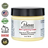 Skin Lightening Cream with Kojic Acid Alpha Arbutin Bearberry Licorice - 2oz