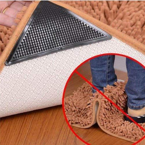 Yoogeer 4pezzi per tappeto, tappeto angolo tappetino antiscivolo riutilizzabile stopper Pad antiscivolo per tappeti/accessori per la casa Coobile