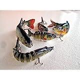 Lurebot Multi Jointed Fishing Lure Swimbait For Sea Lakes Streams Bass Walleye Perch Muskie Trout Salmon Northern Pike Panfish