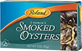 Roland Oysters, Smoked, 3 Ounce (Pack of 10)