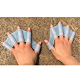 Baiyu 1 Pair Silicone Swimming Webbed Gloves Swim Dive Finger Mitts Fin Flippers