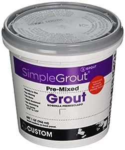 Custom PMG333QT 1-Quart Simple Premium Grout, Alabaster