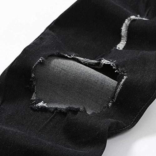 Da Denim Classiche Nero Jeans Tempo Esterni Per Sciolti Pantaloni Lunghi Libero Uomo Il Jogging Ragazzi gnqECBCfz