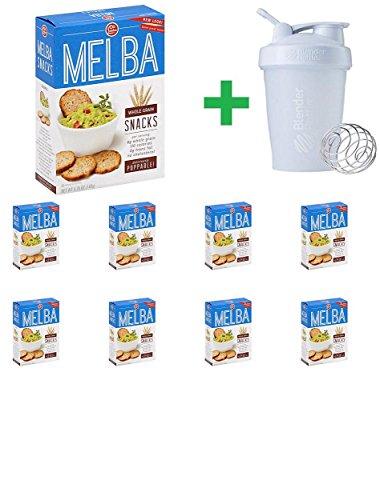 (Old London Whole Grain Melba Snacks, 5.25 oz (9 PCS) + Assorted Sundesa, BlenderBottle, Classic With Loop, 20 oz)