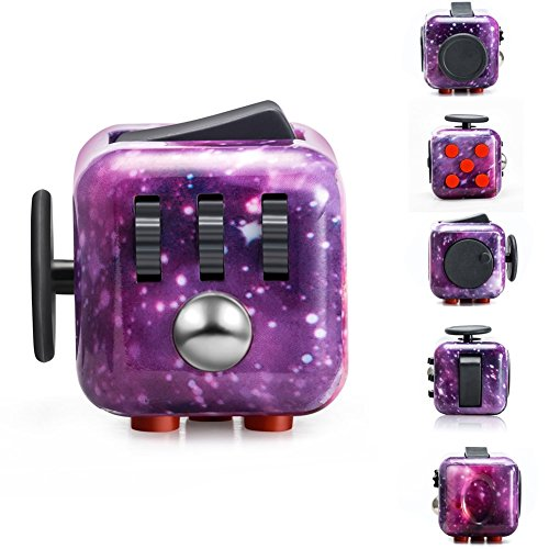 Fidget Dice Anti-anxiety and Depression Cube for Children and Adults (Night Sky) -