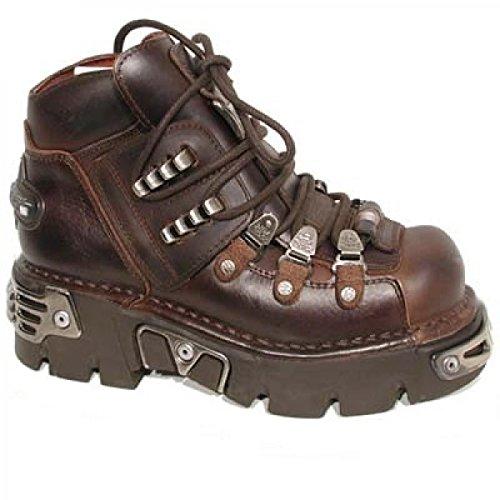 New Rock Boots M.220-c1 Hardrock Punk Gotico Unisex Stiefelette Braun