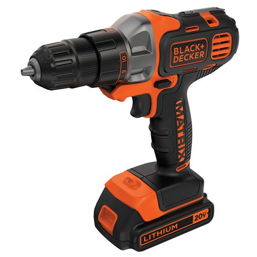 BLACK+DECKER 20V MAX Matrix Cordless Drill/Driver (BDCDMT120C) (Drill Decker 20v And Black)
